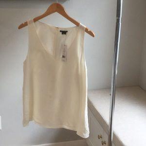 Theory Cream Silk Sleeveless Blouse**Brand New**M
